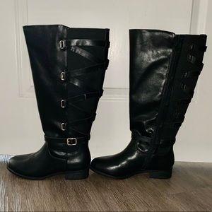 Thalia Sodi 9W Black Wide Width Wide Calf Boots